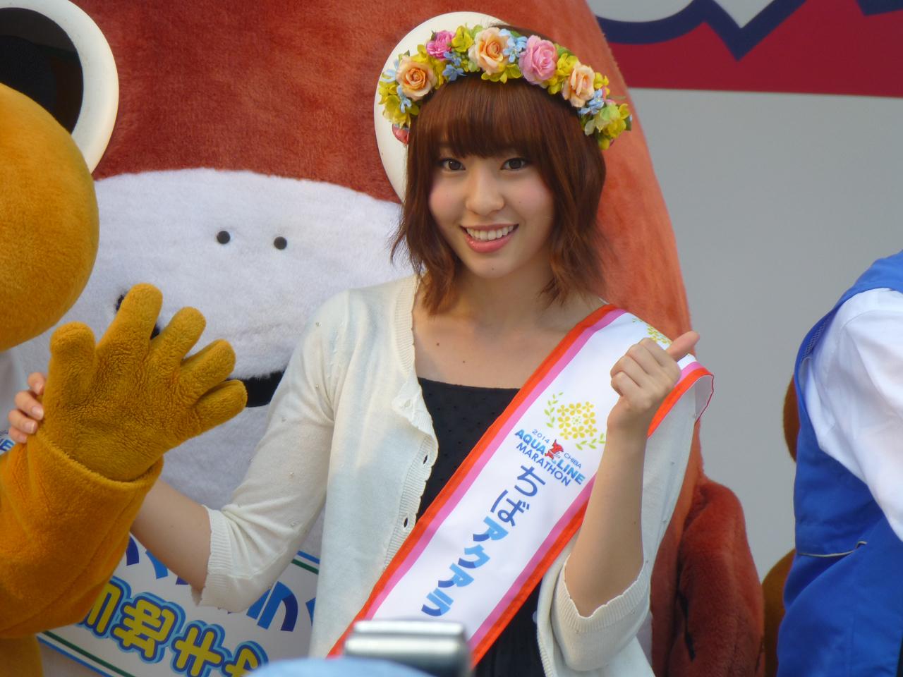 'Fujie Reina' NMB48 Menjadi Brand Ambasador Chiba Aqualine Marathon 2014